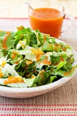 Salad of Romaine Lettuce and Catalina Dressing