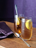 Two Glasses of Lemon Ice Tea