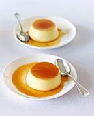 Two crème caramels