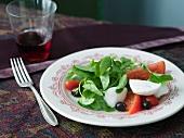 Watercress Salad with Fresh Mozzarella and Tomatoes