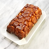 Loaf of Monkey Bread with Caramelized Sugar Topping