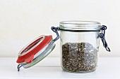 Herbs de Provence in a jar