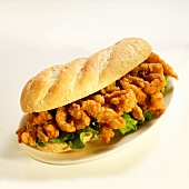 Fried Clam Strip Sandwich Sandwich with Lettuce