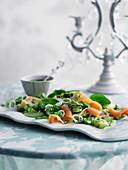 Potato salad with smoked salmon and a herb vinaigrette