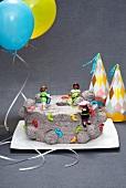 Kletterwandkuchen für die Kinderparty
