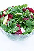 Bowl of Salad with Arugula and Red Cabbage