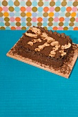 Dinosaurier-Kuchen für die Kinderparty
