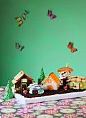 Märchendorf-Kuchen für die Kinderparty
