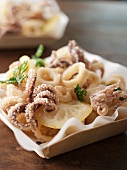 Calamari with Lemon and Parsley