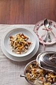 Tagliatelle with a creamy mushroom sauce