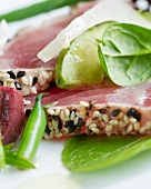 Close Up of Sesame Seed Ahi Tuna Salad