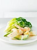 Shrimp and Avocado Caesar Salad