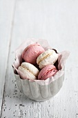 Macaroons with a rough surface