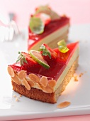 Lime and strawberry cake