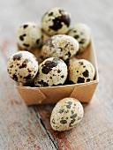 Quail's eggs in a box