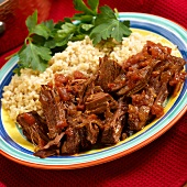 Southwestern Roast Beef (Roast Beef in Salsa) with Rice