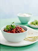 Kidney beans with coriander (Mexico)