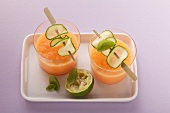 Melon drink with buttermilk and cucumber