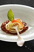 Pasta con le lenticchie (pasta with lentils, Italy)