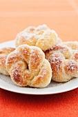 Plaited doughnuts