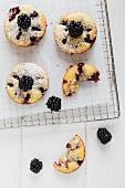 Blackberry doughnuts
