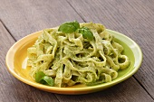 Tagliatelle with pesto and fresh basil