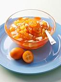 Exotic fruit and kumquat jam