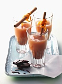 Orange and ginger chocolate drink