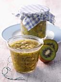 Kiwi and banana jam