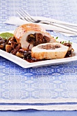 Chicken breast with a fig and pistachio filling