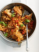 Chicken stew with chickpeas