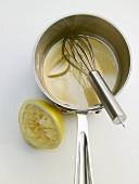 Lemon vinaigrette being prepared