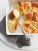 Fig Buchteln (baked, sweet yeast dumplings)