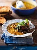 Squash soup with lentils