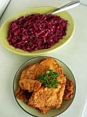 Wiener Schnitzel and Red Cabbage