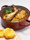 Braised country chicken