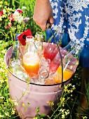 Eisgekühlte Melonen-Drinks