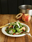 Arugula Salad with Peaches and Radishes