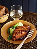 Sea Bass and Bok Choy with Ginger Sauce