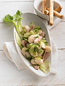 White bean salad with tuna fish