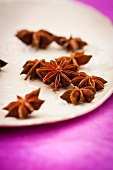 Star anise on a plate