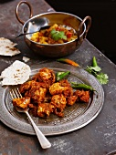 Chicken with chilli and unleavened bread