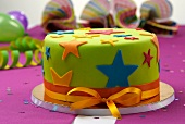 A colourful cake for a children's party