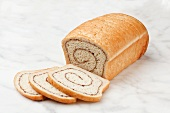 Partially Sliced Cinnamon Loaf