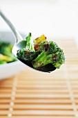 Spoonful of Prepared Broccoli