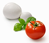 A tomato, basil and mozzarella