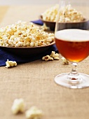 Popcorn and dark beer