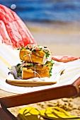 Prawn baguette with tarragon