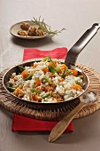 Fried rice with vegetables and nuts