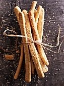 Beer sticks with sesame seeds